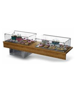 Комплект кондитерских витрин (холодильная + нейтральная): купить в Москве по цене 157 700 руб | Интернет-магазин «Мебель Металлическая»