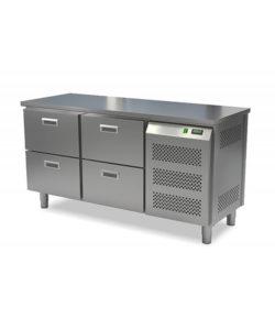 Стол морозильный кондитерский 4 ящика (боковой агрегат): купить в Москве по цене 157 900 руб | Интернет-магазин «Мебель Металлическая»