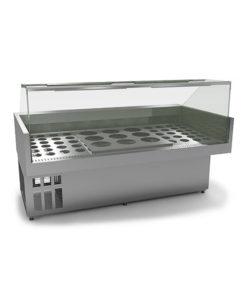 Витрина холодильная (охлаждаемая) для вок: купить в Москве по цене 180 000 руб | Интернет-магазин «Мебель Металлическая»