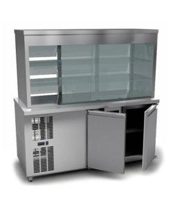 Витрина холодильная кондитерская (охлаждаемый нижний объем): купить в Москве по цене 188 300 руб | Интернет-магазин «Мебель Металлическая»
