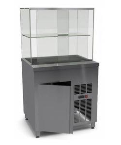 Витрина холодильная напольная без охлаждаемого нижнего объема: купить в Москве по цене 204 600 руб | Интернет-магазин «Мебель Металлическая»