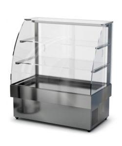 Витрина холодильная напольная (гнутое стекло): купить в Москве по цене 151 600 руб | Интернет-магазин «Мебель Металлическая»