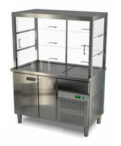 Витрина холодильная 1 дверь (охлаждаемый нижний объем): купить в Москве по цене 173 300 руб | Интернет-магазин «Мебель Металлическая»
