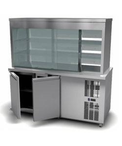 Витрина холодильная с охлаждаемым нижним объемом: купить в Москве по цене 180 300 руб | Интернет-магазин «Мебель Металлическая»