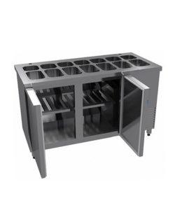 Салат-бар без охлаждаемого объема (агрегат справа): купить в Москве по цене 91 700 руб | Интернет-магазин «Мебель Металлическая»