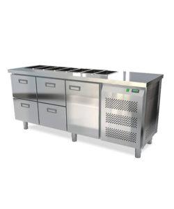 Салат-бар охлаждаемый 1850 мм GN1/3 (агрегат справа): купить в Москве по цене 111 000 руб | Интернет-магазин «Мебель Металлическая»
