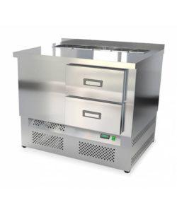 Салат-бар охлаждаемый 1000 мм GN1/3 (агрегат снизу): купить в Москве по цене 74 000 руб | Интернет-магазин «Мебель Металлическая»