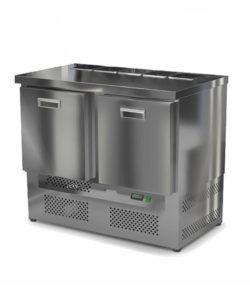 Салат-бар охлаждаемый 1000 мм GN1/6 (агрегат снизу): купить в Москве по цене 74 600 руб | Интернет-магазин «Мебель Металлическая»