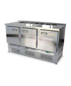 Салат-бар охлаждаемый 1500 мм GN1/3 (агрегат снизу): купить в Москве по цене 87 700 руб | Интернет-магазин «Мебель Металлическая»