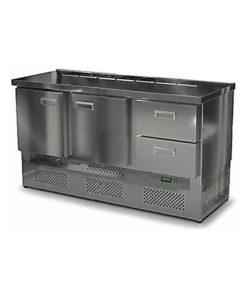 Салат-бар охлаждаемый 1500 мм GN1/6 (агрегат снизу): купить в Москве по цене 88 300 руб | Интернет-магазин «Мебель Металлическая»
