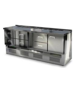 Салат-бар охлаждаемый 2000 мм GN1/3 (агрегат снизу): купить в Москве по цене 109 000 руб | Интернет-магазин «Мебель Металлическая»