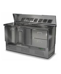Салат-бар с крышкой 1500 мм GN1/3 (агрегат снизу): купить в Москве по цене 90 300 руб | Интернет-магазин «Мебель Металлическая»