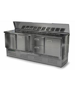 Салат-бар с крышкой 2000 мм GN1/3 (агрегат снизу): купить в Москве по цене 112 300 руб | Интернет-магазин «Мебель Металлическая»