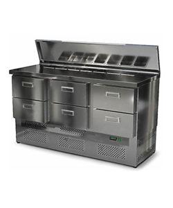 Салат-бар с крышкой 1500 мм GN1/6 (агрегат снизу): купить в Москве по цене 91 100 руб | Интернет-магазин «Мебель Металлическая»